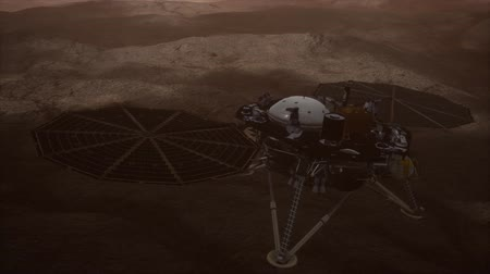 planetario : Insight Mars exploring the surface of red planet