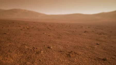 atmosphere : Fantastic martian landscape in rusty orange shades