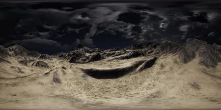 VR 360 Huge Dark Clouds over Scottish Highlands