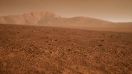 земной : Fantastic martian landscape in rusty orange shades