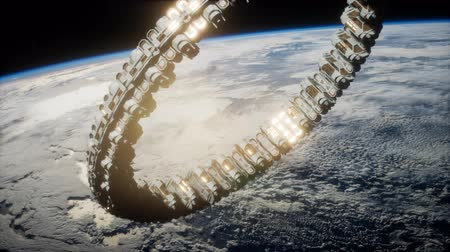 агентство : futuristic space station on Earth orbit
