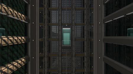 лифт : 3d rendering. An open Elevator shaft at the business center