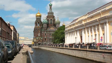 rusya : ST. PETERSBURG, RUSSIA - JUNE 27, 2015: Church of the Savior on Spilled Blood. It was built on the site where Emperor Alexander II was killed in March 1881