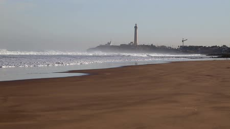 přadeno : View of Atlantic ocean beach in Casablanca, Morocco Dostupné videozáznamy