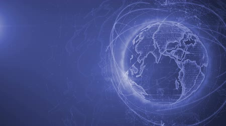 north america : Wireframe Globe. loops seamlessly. Plexus Abstract Background, Slow Rotating Full HD Stock Footage