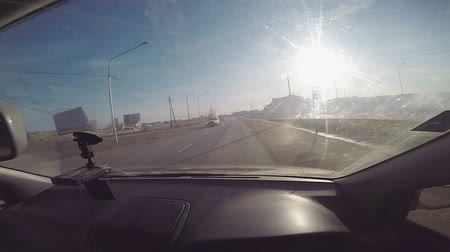 vanish : Road Traffic. Yakutsk, Russia - March 29, 2016 - Footage Stock Footage
