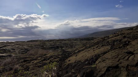 geniş açılı : Chain Of Craters Road, Timelapse, Big Island, Hawaii, USA