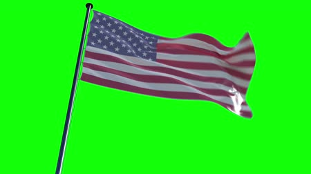 amerikan : USA Flag with greenscreen and alpha  ready to use animation of the american flag animated on a green screen background with alpha channel. See my other flags of different countries and different backgrounds for just drag´n´drop into your