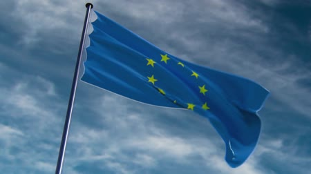 avrupa birliği : EU Flag, HQ animated on an epic background  ready to use animation of the EU flag animated on an epic background with fast moving clouds.  See my other flag-animations for different countries and different backgrounds.