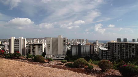 hawai : Pan de Skyline de Honolulu, Oahu, Hawaii (villes)