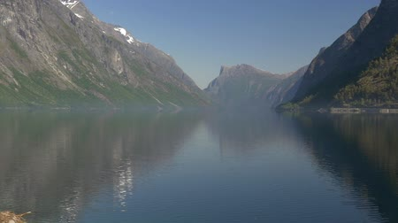 djupvatnet : 1080p, Pan Over Lake, Norway (native camera output) Stock Footage
