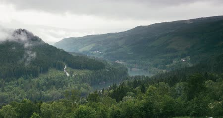 tvindefossen : 4K, Skei, Zoom, Norway Stock Footage