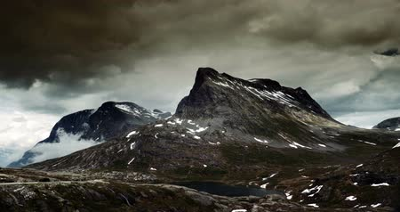 эпический : 4K, Epic and dramatic time lapse of Trollstigen area in Norway