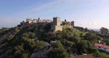 Андалусия : 4K Aerial, Flight along the beautiful Castillo de Castellar, Andalusia, Spain