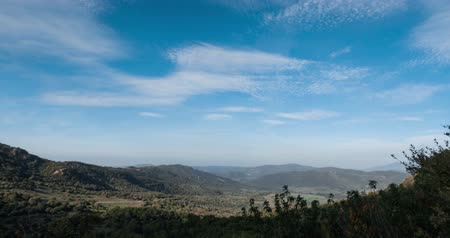 İspanya : Clouds time lapse, Andalusia, Spain Stok Video