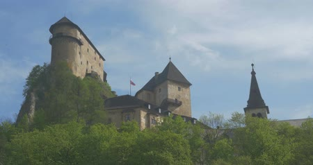oravsky : 4K, Oravsky Hrad, Slovakian Castle - Untouched and flat material, watch also for the graded version Stock Footage