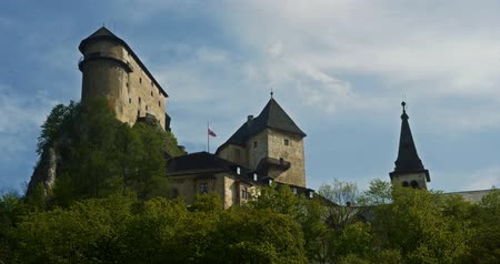 oravsky : 4K, Oravsky Hrad, Slovakian Castle - Graded and stabilized version. Watch also for the flatungraded version