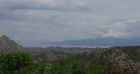 corte : 4K, Corsica Landscape at Nonza, native camera output Stock Footage