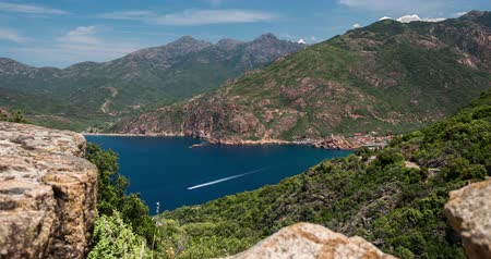 corte : 4K, Timelapse, View on Porto, Corsica Stock Footage