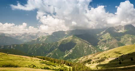 piemonte : 4K, Time Lapse, Clouds Over Italian Mountain Range