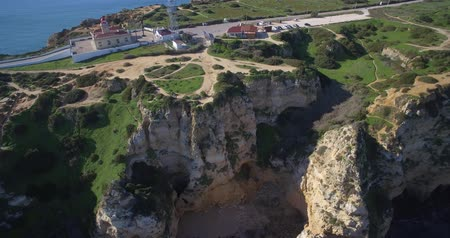 ponta da piedade : Aerial, Caves At Farol Da Ponta Da Piedade, Lagos, Portugal - Native Material, straight out of the cam, watch also for the graded and stabilized version