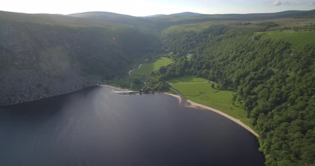 vikings : Aerial, Lough Tay Lake At Luggala, County Wicklow, Ireland - native Stock Footage