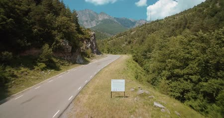 tarmac : Aerial, Bridge Above Torrent Del Bac Divi, Pyrenees, Spain - graded Version Stock Footage