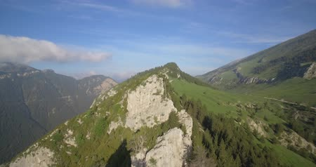 pireneusok : Aerial, Flight Along The Mountains Of Sierra Pedregosa In Cadi-Moixero National Park, Pyrenees, Spain - native Version