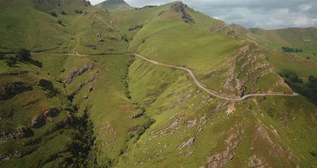 eend : Aerial, Col D Aintziaga, Spanish-French Border, Pyrenees, Spain - graded Version