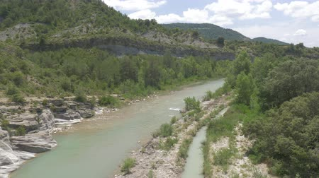 stony : River At Barranco De Ramillar, Pyrenees, Spain - native Version Stock Footage
