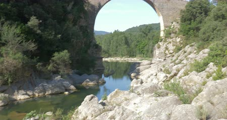 romanesk : Pont Medieval De Lllierca, Pyrenees, Spain - native Version
