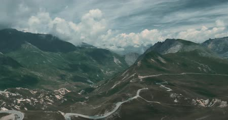 alpes : Crete Du Galibier, France - bleached bypass Stock Footage