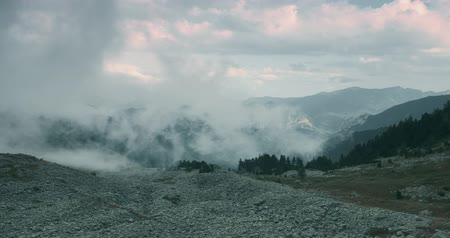 alpes : Fogbank And Mist At Vallon De Caralaite, France