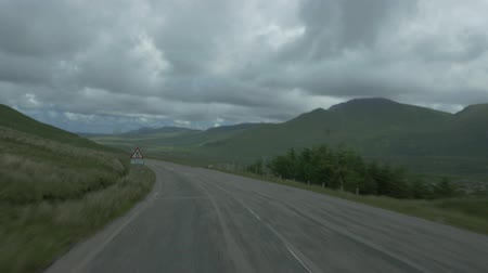 doom : Driving Through Scotlands Highlands, Along Loch Na Fiacail, Untouched Material Stock Footage