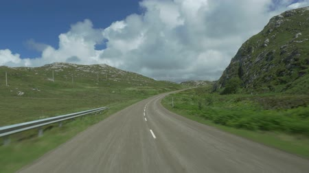 loch : Driving Through Scotlands Highlands, Along Loch Na Fiacail, Untouched Material Stock Footage