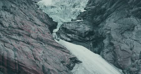 natural landscape : Brikdalsbreen Glacier, Norway Stock Footage
