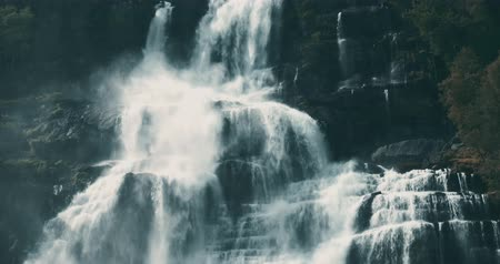 tvindefossen : Tvindefossen Waterfall, Norway Stock Footage