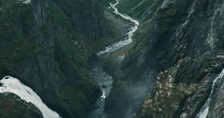 stony : Vøringsfossen Waterfall, Norway Stock Footage