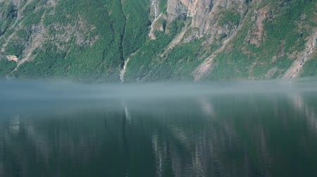 mais : Fog Layer In The Morning, Eikesdalsvatnet Fjord, Norway - graded