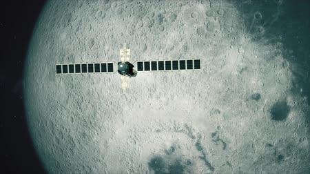 lunar surface : Satellite Telescope Passes Moon