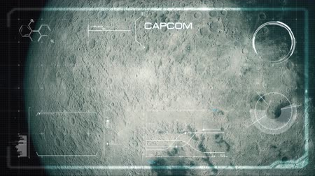 lunar surface : Hi-Tech User Interface, Head Up Display, Moon - Glitched Version