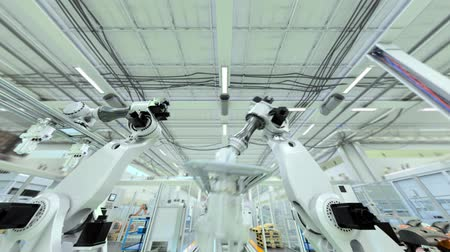 versiyon : Industrial Robot Factory - 3D Animation - Flat Version, V1 Stok Video