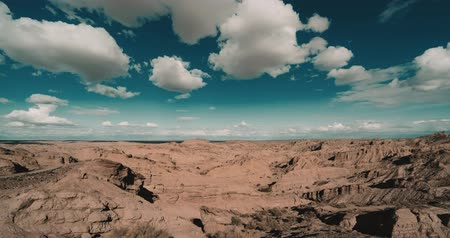 versiyon : Time Lapse, Mirador Valle Encantado, Argentina (cine version) Stok Video