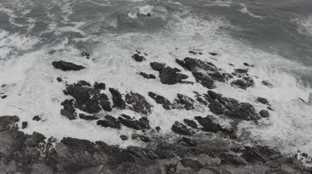 エメラルド : Aerial, Beach At The Coast Of Pan De Azucar National Park, Chile - native 10 Bit (HLG) 動画素材