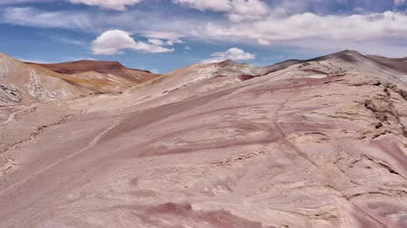 epik : Aerial, Moon Landscapes At Paso Sico, Chile Stok Video