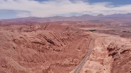 лунный : Aerial, Valle De La Luna, Atacama Desert, Chile - neutral version Стоковые видеозаписи