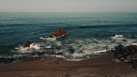 wavebreaker : Aerial, Coastline At Paposo National Reserve, Chile - cine version