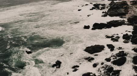 wavebreaker : Aerial, Beach At The Coast Of Pan De Azucar National Park, Chile - cine version