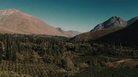 チリ : Aerial, Above Tualhuen, Home Of The Lapislazuli, Chile - cine version 動画素材