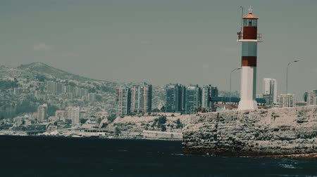 portador : Battleships At The Valparaiso Harbor, Chile Stock Footage